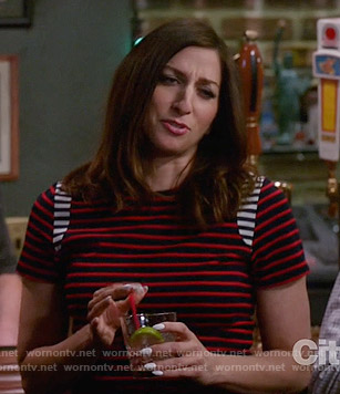 Gina's red and navy striped top on Brooklyn Nine-Nine