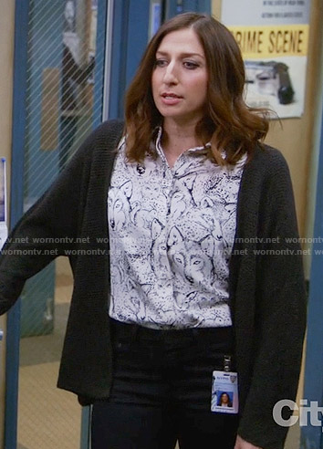 Gina's wolf print shirt on Brooklyn Nine-Nine