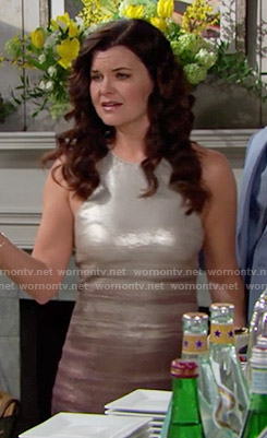 Katie's sequin  ombre dress on The Bold and the Beautiful
