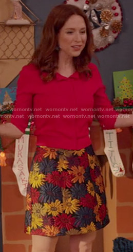 Kimmy's floral skirt on Unbreakable Kimmy Schmidt