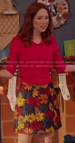 Kimmy's floral skirt on Unbreakable Kimmy Schmidt