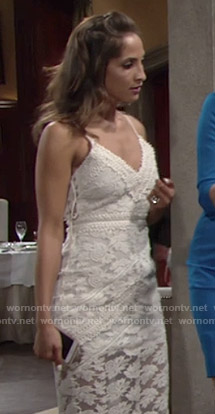 Lily's lace dress with lace-up sides on The Young and the Restless