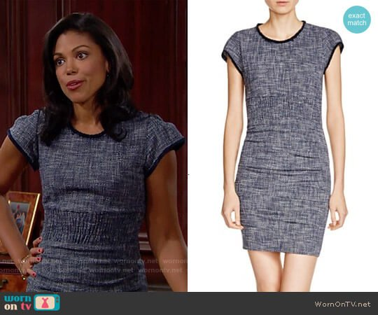 Maje Rought Tweed Dress worn by Karla Mosley on The Bold & the Beautiful