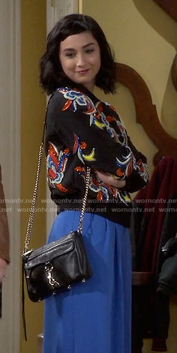 Mandy's black embellished jacket on Last Man Standing