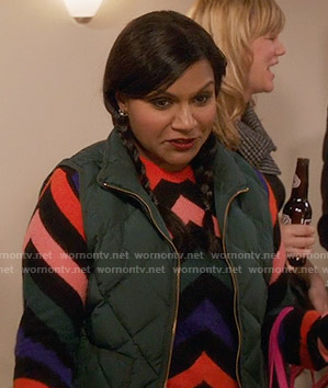 Mindy's chevron striped sweater on The Mindy Project