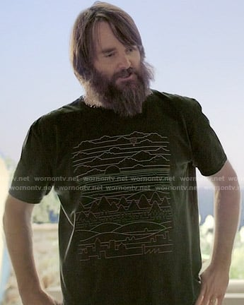 Phil's line graphic tee on Last Man on Earth
