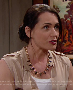Quinn's spiked necklace on The Bold and the Beautiful