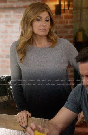 Rayna's grey ombre sweater on Nashville
