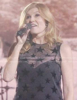 Rayna's sheer star top on Nashville