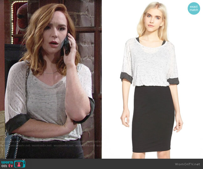 Splendid Speckled Melange Dress worn by Camryn Grimes on The Young & the Restless