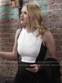 Summer's black and white dress on The Young and the Restless