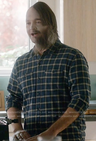 Tandy's blue checked shirt on Last Man on Earth