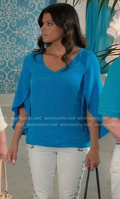 Xiomara's blue blouse on Jane the Virgin