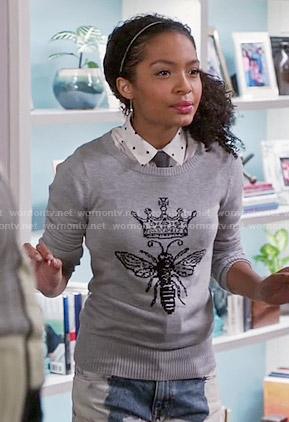 Zoey's queen bee sweater on Black-ish