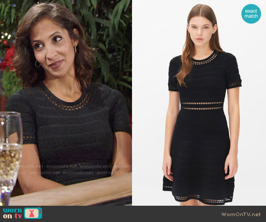 Sandro Riley Dress worn by Lily Winters (Christel Khalil) on The Young & the Restless