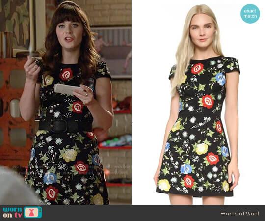 Alice + Olivia Ellen Dress worn by Jessica Day (Zooey Deschanel) on New Girl