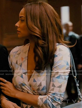 April's triangle print wrap dress on Mistresses