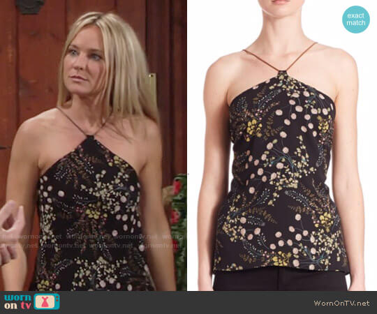 Bailey 44 Botanical Chain Halter Top worn by Sharon Collins (Sharon Case) on The Young & the Restless