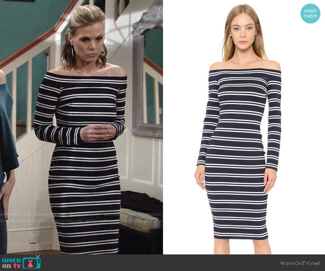 Bec & Bridge Ahoy Long Sleeve Dress worn by Gina Tognoni on The Young & the Restless