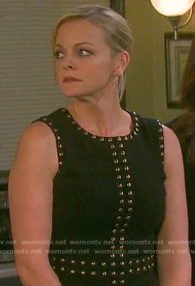 Belle's black studded dress on Days of our Lives