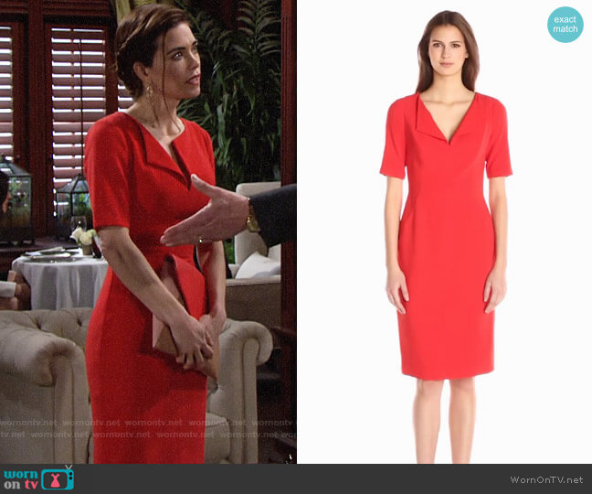 Black Halo Pescara Dress worn by Amelia Heinle on The Young & the Restless