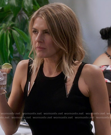 Chelsea's black double-v dress on The Mindy Project