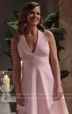 Chelsea's pink halterneck dress on The Young and the Restless