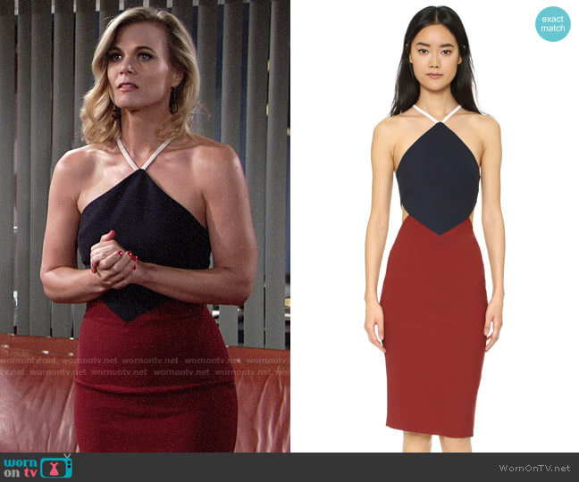 Elizabeth and James Riza Dress worn by Phyllis Newman (Gina Tognoni) on The Young & the Restless