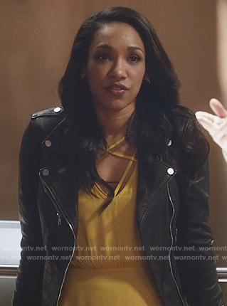 Iris's yellow strappy dress on The Flash