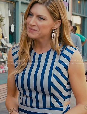 Josslyn's blue striped dress on Mistresses