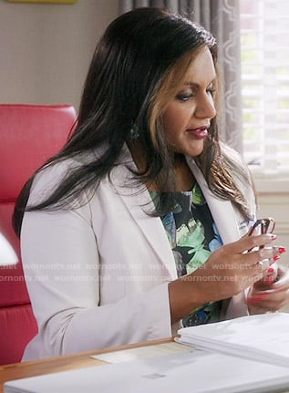 Mindy's butterfly print dress on The Mindy Project
