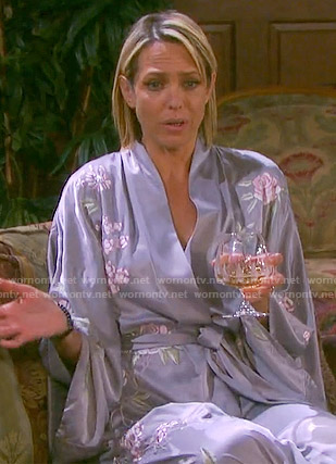 Nicole's floral embroidered robe on Days of our Lives