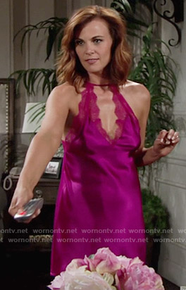 Phyllis's pink lace chemise on The Young and the Restless