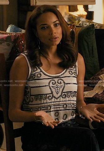 April's beaded cropped tank on Mistresses