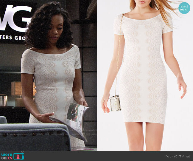 Bcbgmaxazria Kisha Dress worn by Mishael Morgan on The Young & the Restless
