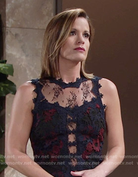 Chelsea's lace illusion top on The Young and the Restless