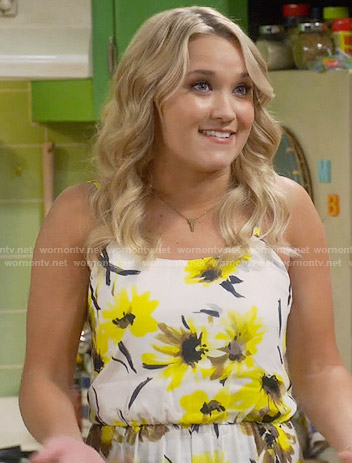 Gabi's yellow floral romper on Young and Hungry