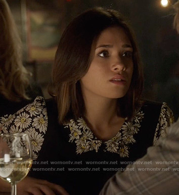 Heather's daisy print top on Beauty and the Beast