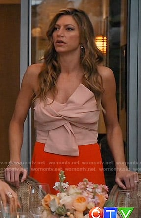 Josslyn's two tone bow front dress on Mistresses