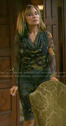 Kate's floral cowl neck dress on Days of our Lives