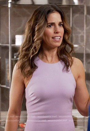Marisol's lavender dress on Devious Maids