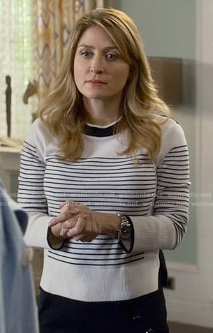 Maura's striped sweater on Rizzoli and Isles