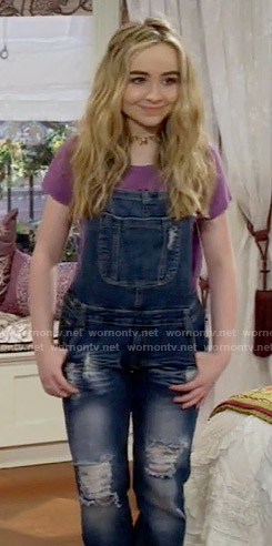 Maya's denim overalls on Girl Meets World