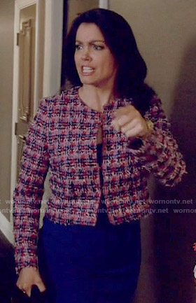 Mellie's pink tweed jacket on Scandal