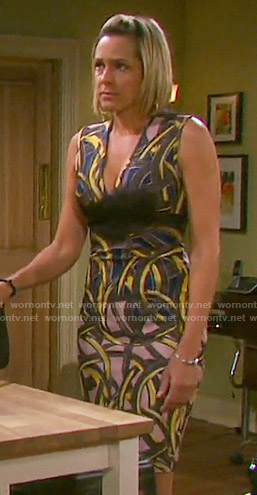 Nicole's swirl printed dress on Days of our Lives