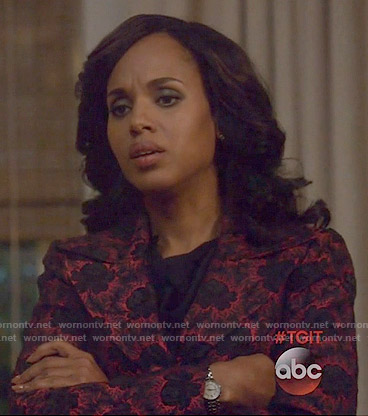 Olivia's floral jacquard coat on Scandal