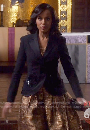 Olivia's gold dress on Scandal