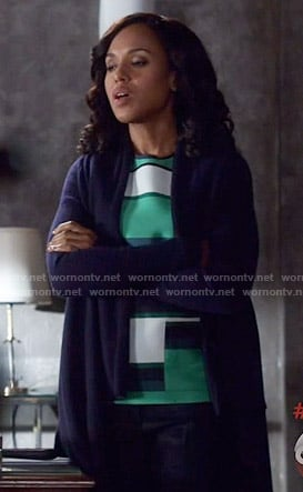 Olivia's green striped top on Scandal