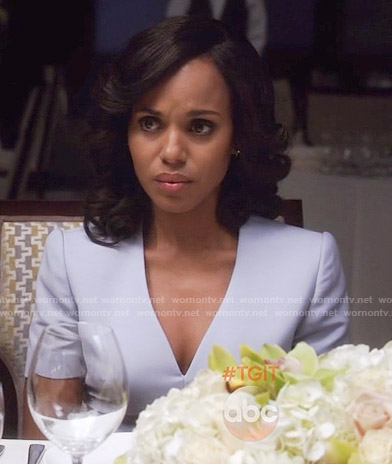 Olivia's lavender v-neck dress on Scandal