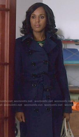 Olivia's navy trench coat on Scandal